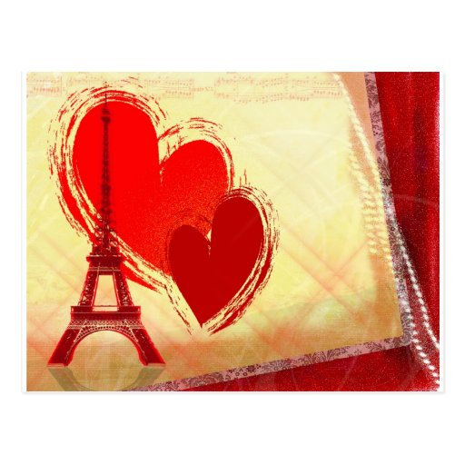 Two hearts in Paris Post Card