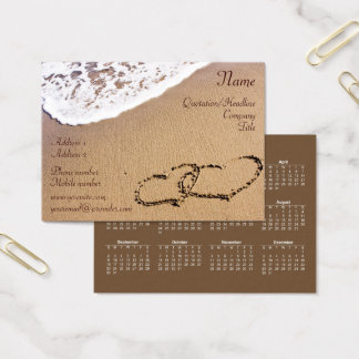 Two Hearts In The Sand 2018 Business Card