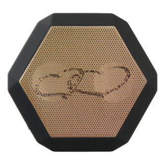 Two Hearts In The Sand Black Bluetooth Speaker