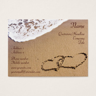 Two Hearts In The Sand Business Card