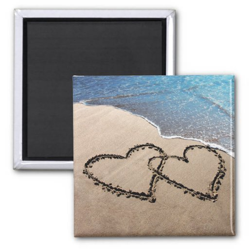 Two Hearts In The Sand Magnets