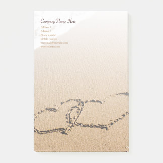 Two Hearts In The Sand Post-it Notes