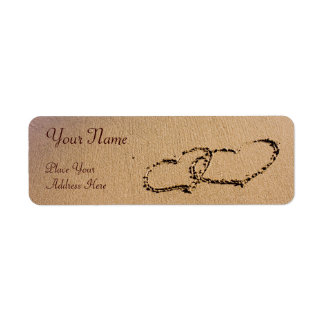 Two Hearts In The Sand Return Address Label