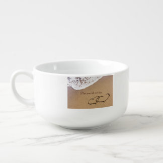 Two Hearts In The Sand Soup Mug