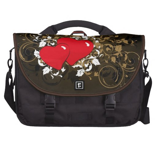 two hearts commuter bag