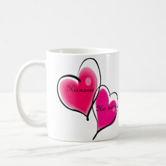 Two Hearts Mug Template