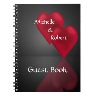 Two Hearts One Love Wedding Engagement Guest Book