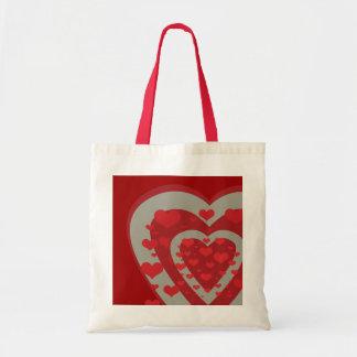 Two Hearts Rain Tote Budget Tote Bag