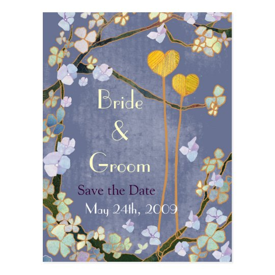Two Hearts: Save the Date Wedding Postcards