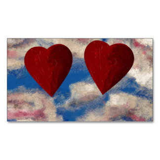 TWO HEARTS THAT BEAT AS ONE large.jpg Magnetic Business Cards