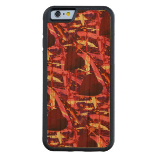 TWO HEARTS THAT BEAT AS ONE (red heart design) ~ Carved® Cherry iPhone 6 Bumper