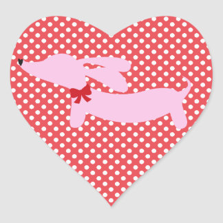 Two Hearts, Two Dachshunds Envelope Labels
