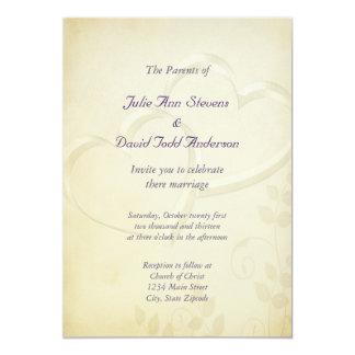 Two Hearts Wedding Invite