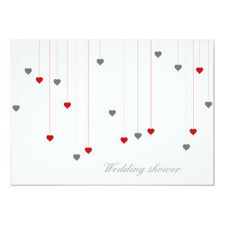 Two hearts wedding invitation 13 cm x 18 cm invitation card
