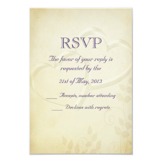 Two Hearts Wedding RSVP Announcement