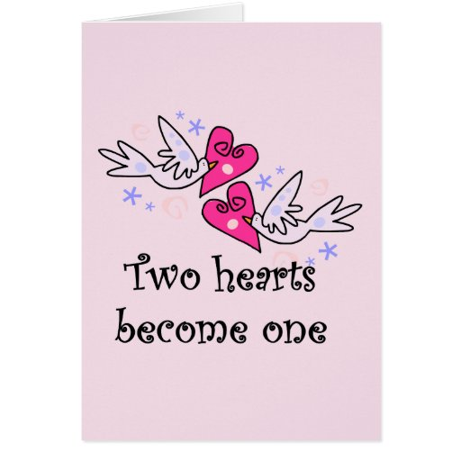 Two Hearts Wedding Tshirts and Gifts Greeting Cards