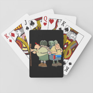Two Hikers Playing Cards