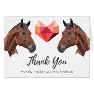 Two Horses | Custom Romantic Wedding Thank You Card