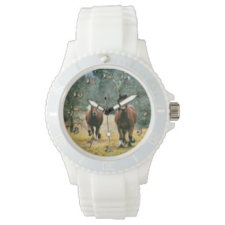 Two Horses Galloping in the Meadow Watch