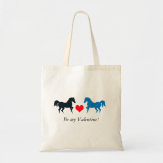 Two Horses in Love tote