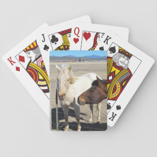 Two Horses Playing Cards