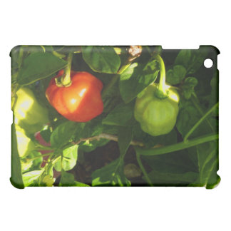 two hot peppers on the plant iPad mini cover
