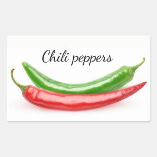 Two hot peppers rectangular sticker