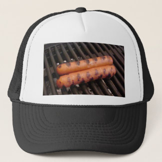 Two Hotdogs Grilling Trucker Hat