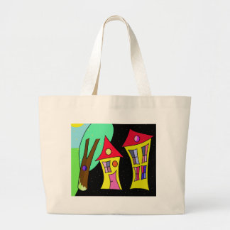 Two houses 2 large tote bag