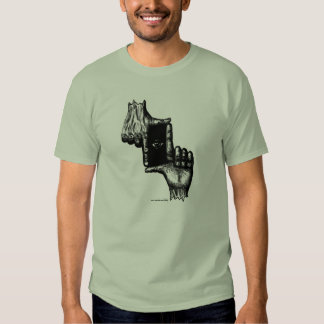 Two human hands and eye pen ink drawing art shirts
