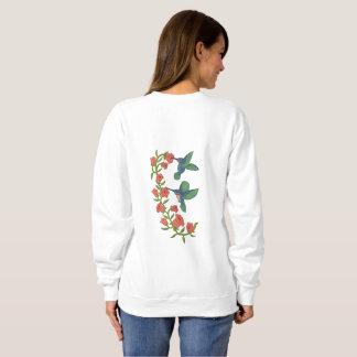 Two Hummingbirds Embroidered Sweatshirt