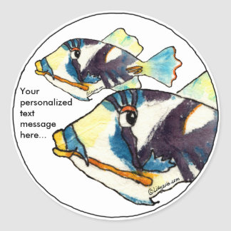 Two Humu Humus Fish Personalized Stickers