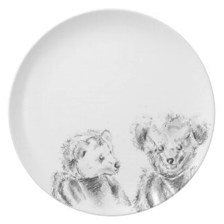 Two Hungry Bears Plates