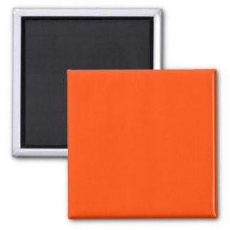 Two Inch Square Fidge Magnet: Orange-Red Square Magnet