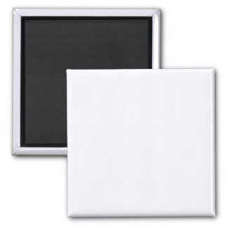 Two Inch Square Fridge Magnet: Ghost White