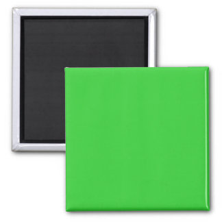 Two Inch Square Fridge Magnet: Lime Green