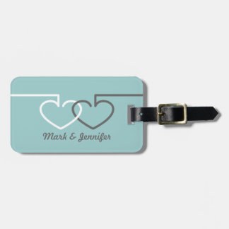 Two Interlocking Hearts Tags For Bags
