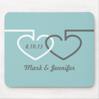 Two Interlocking Hearts Mousepad