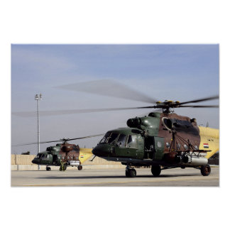 Two Iraqi Mi-17 Hip Helicopters Poster