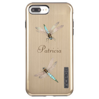 Two Iridescent Dragonflies And Name Incipio DualPro Shine iPhone 8 Plus/7 Plus Case