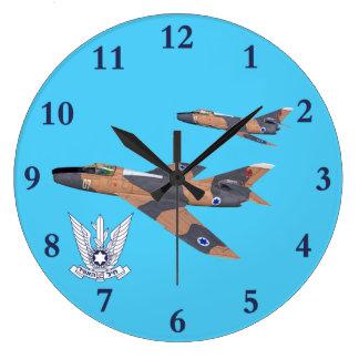 Two Israeli Super Mystères Large Clock