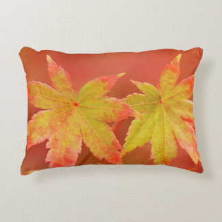 Two Japanese Maple Leaves Decorative Cushion