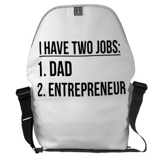 Two Jobs Dad And Entrepreneur Commuter Bag