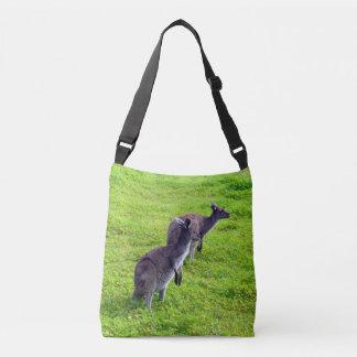 Two Kangaroos Full Print Cross Body Bag. Crossbody Bag