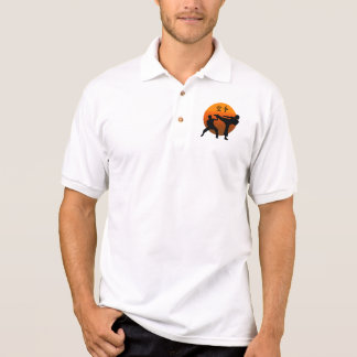 Two Karate Fighters With Rising Sun Polo Shirt