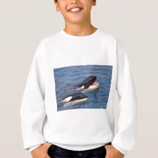 Two killer whales sweatshirt