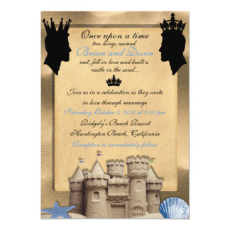 Two Kings Custom Gay Wedding Invitations
