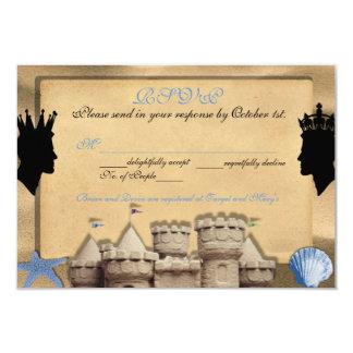 Two Kings Custom Gay Wedding RSVP Cards 9 Cm X 13 Cm Invitation Card