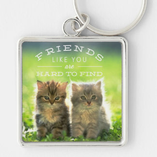 Two Kitten, Friends, Hard to Find Keychain