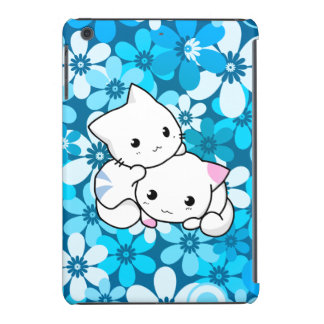 Two Kittens on Blue Background iPad Mini Cover